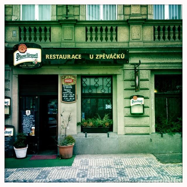 Praha, restaurace U Zpěváčků