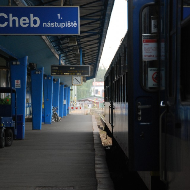Cheb, Railway station